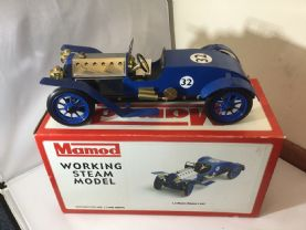 SOLD Blue Mamod Le Mans Racer no 300 Unfired.